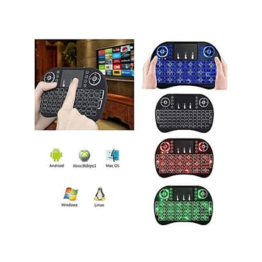 Generic Backlit 2.4GHz Wireless Keyboard Air Mouse Touchpad Handheld Remote Control Backlight For Android TV BOX PC Smart TV Black
