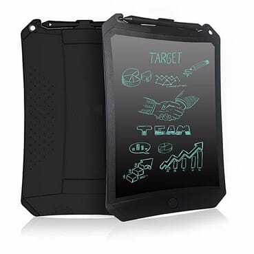 Universal 8.5-Inch Tablet Robot LCD Drawing Handwriting Pad Board Kids Scrawl Drawing Tablet Pad-Black