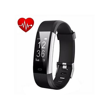 Generic Fitness Tracker Activity Wristband Smart Band ID115 Plus Heart Rate Monitor Smart Fitness Band For IOS Android - Black