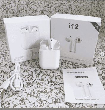 i12 TWS Air pods Wireless Bluetooth 5.0 super stereo bass earbuds