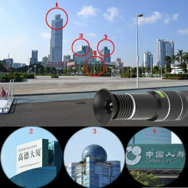 Universal Long Distance Range Monocular Smartphone Telescope 20x Zoom For Mobile Phone Camera Designed For Android, IPhone, Apple Devices