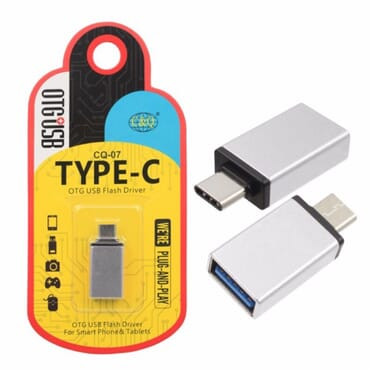 USB 3.1 Type-C to USB 3.0 OTG Adapter for Type-C Smartphones(Gold Colour)