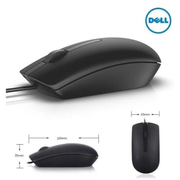 Dell Optical Mouse- MS116 ( BLACK)
