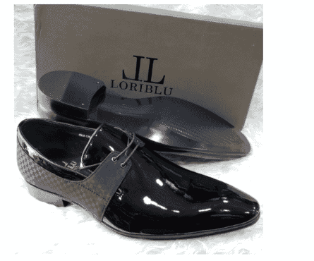 Italian Men's Patent Leather Derby Loafer + A Free Happy Socks