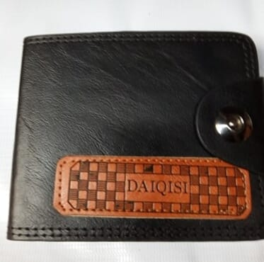 Men's Foldable wallet-Brown and Black