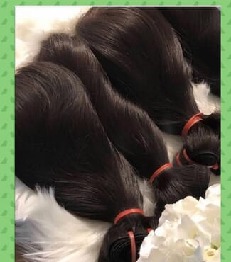Super Double Drawn Hair Brazilian Raw Virgin Unprocessed Straight Human Hair Bundles with Closure 100% Hair Weave