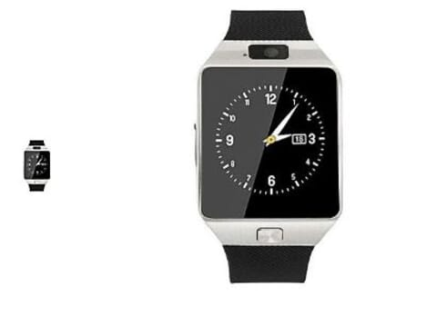 Smartwatch Android Smart Watch(Bluetooth Sim & SD Card Enabled Phone Watch)- For Android IOS Silver