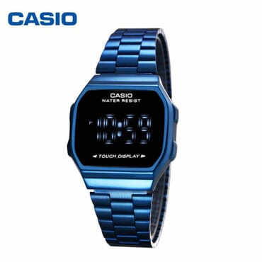 CASIO Retro Classic Unisex Digital Steel Watch A168WA-1W Multifunctional touch screen electronic watch men's watch and female watch