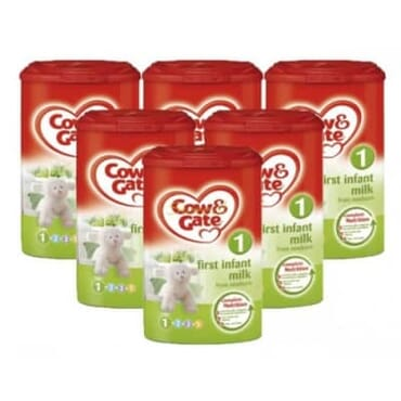 Cow & Gate First Infant Milk 0-6 Months - Bundle Pack Of 6