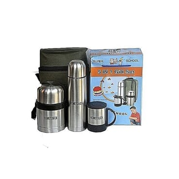 G and L Universal Stainless Steel Food Flask Set - 5 In 1 Set