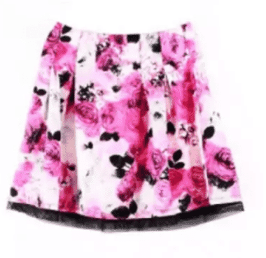 INC International Concept Women's Large Mesh Trim Floral Print Pleated Skirt - Pink