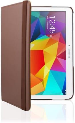 Galaxy Tab 4 10.1 Case, Desoon 360 Degree Rotating Folio Smart PU Leather Cover Case for Samsung Galaxy Tab 4 10.1 SM-T530 T531 T535 (Brown)