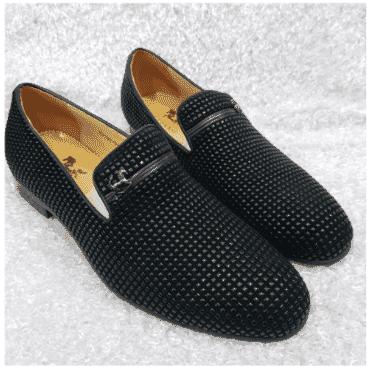 Men's Suede Loafer Shoe + A Free Happy Socks