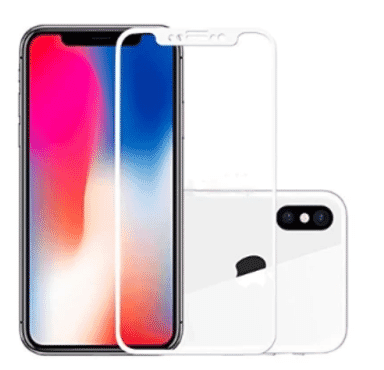 Tempered Glass Screen Protector For Apple Iphone X - White