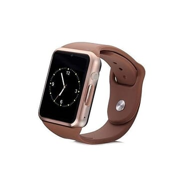 Smartwatch A1 Smartwatch With SIM Card & Memory Card Camera Pedometer Sleep Monitor -Gold Brown