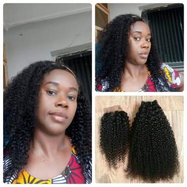 Malaysian Kinky Curly Bundles with Closure Curly Human Hair Bundles with Closure Styleicon 3 4Bundles Curly Bundles with Closure