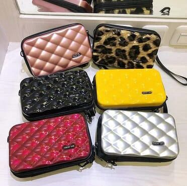 Portable Rubber Women Handbag