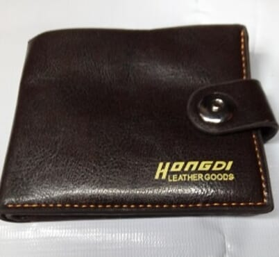 Men's Foldable Leather wallet-Coffee Brown