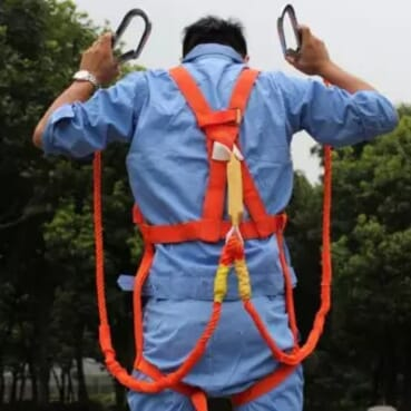 SAFETY HARNESS FALL PROTECTION Full Body Double Lanyard For Easy Climbing