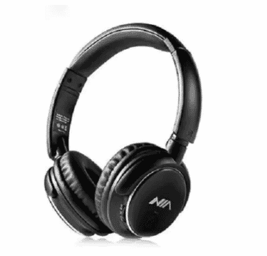 NIA X3 Wireless Bluetooth Headphone - Black