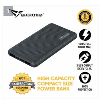 Alcatroz Tzla Slim C10000 True Power Ultra Slim Power Bank (10000 Mah)
