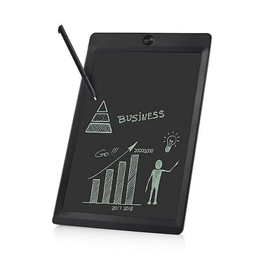 Generic 10-Inch LCD Drawing Handwriting Board Kids Scrawl Drawing Tablet For Home Office-Black