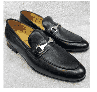 Italian Men's Horse-Bit Loafer Shoe + A Free Happy Socks