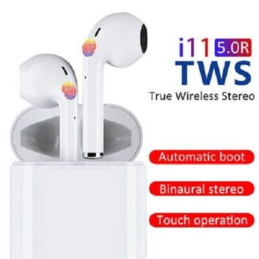 i11 TWS Wireless Bluetooth Earbuds with Touch Button