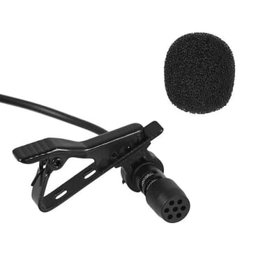 Mini Portable Lapel Microphone with Clip Andoer iPhone iPad Android Smartphone DSLR Camera Laptop