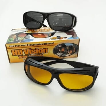 HD NIGHT VISION DRIVING GLASSES.