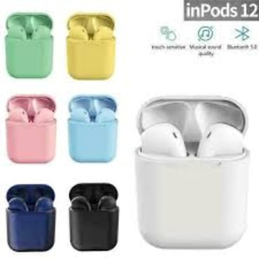 Inpods 12 Tws Sport Wireless Earphone Hot Sale V5.0 Wireless Earbuds Stereo True Headphones