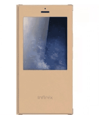 Smart Flip Case For Infinix Note 2 X600 - Gold