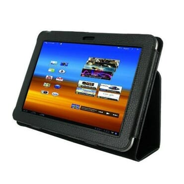 Samsung Galaxy Tab 8.9 P7300 P7310 Leather Case Cover Slim Smart Stand Black