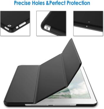 Case for iPad mini 1 2 3 (Not for iPad mini 4), Smart Cover Auto Wake/Sleep, Black