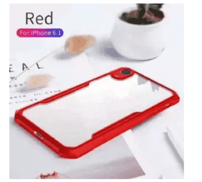Xundd Transparent Back Case For iPhone Xr 6.1 - Red