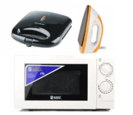 Microwave + Sonik Iron + Power Deluxe Toaster