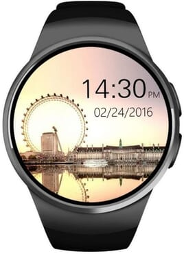 KW18 Bluetooth Smart Watch With Blood Pressure Heart Rate Monitor & SIM Card Slot