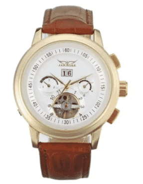 Jaragar Men's Luxury Classic Sapphire Screen Leather Watch - JAG16