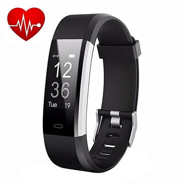 Generic ID115 HR Plus Smart Fitness Tracker - Black