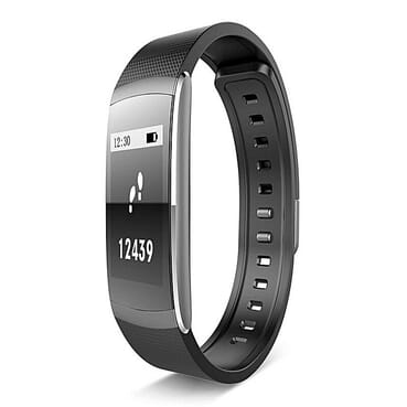 Iwown I6 Pro - Roll Band - Smart Fitness Tracker Bracelet With HRM - Black.