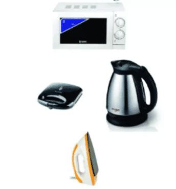 Sonik Microwave + Power Deluxe Toaster + Sonik Dry Iron + Qasa Jug