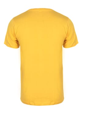 Fashion Yellow M Round Neck T-Shirt