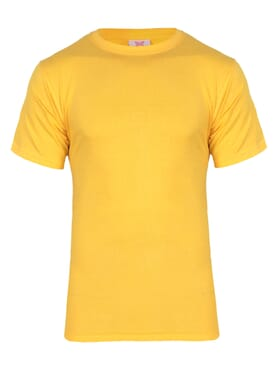 kanin Fashion Yellow M Round Neck T-Shirt
