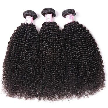 Kinky Curly Virgin Hair Kinky Hair With Closure 10 inches