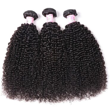 Kinky Curly Virgin Hair Kinky Hair With frontal 12 Inches