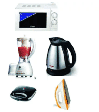 Microwave + Dry Iron + Toaster + Jug + Blender Kitchen Bundle