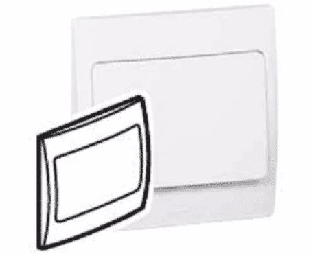 Legrand 281190 Blanking Plate Mallia - 1 Gang - White