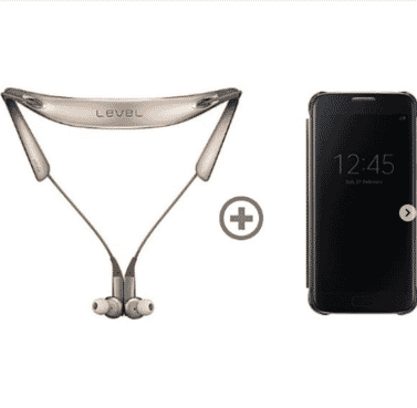 Level U Pro Wireless Headphone+Clear View Case For S7 edge