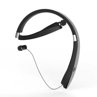 SX-991 Sports Bluetooth Headphones Retractable Foldable Neckband Wireless Headset Anti-lost In Ear Earphones