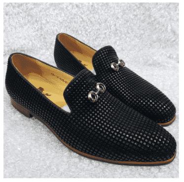Men's Designer Studded Loafer + A Free Happy Socks